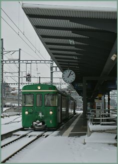 The BAM to Biere is leaving Morges. 15.01.2013