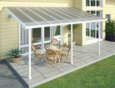 China Polycarbonate Alumawood Patio Cover , Powder Coated Aluminum Canopy For Veranda supplier