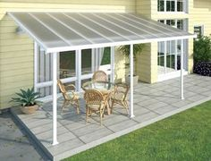 China Polycarbonate Alumawood Patio Cover , Powder Coated Aluminum Canopy For Veranda supplier