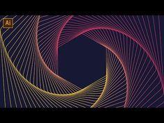 Geometric Line Art Tutorial | Adobe Illustrator - YouTube