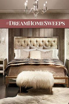Win a piece of DreamHome! The BRADLEY fur ottoman featured in the 2015 DreamHome bedroom will add a glamorous feature to any room in your home. For every entry, Design Center will donate $5 to Almost Home Kids. DreamHome Sweepstakes runs through Sept. 12, 2015.