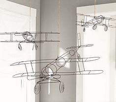 Wire Hanging Airplanes - I know a guy with a bunch of wire!