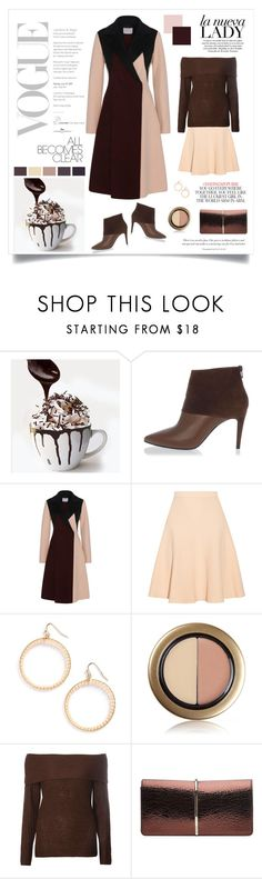 """""""Peach & Chocolate"""" by magnolialily-prints ❤ liked on Polyvore featuring Pierre Hardy, Jonathan Simkhai, Panacea, Jane Iredale, Dorothy Perkins, Nina Ricci and Kate Spade"""