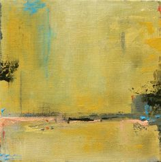 Small Abstract Landscape Painting Acrylic painting on by jgouveia, $45.00