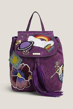 Patched Suede Zip Pack Marc Jacobs Handbag Bag Cool Backpacks