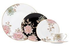 5-Pc Painted Camellia Placesetting