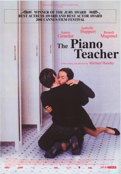 Michael Haneke's superb drama The Piano Teacher. Strong stuff and a powerhouse performance from Isabelle Huppert. Recommended.