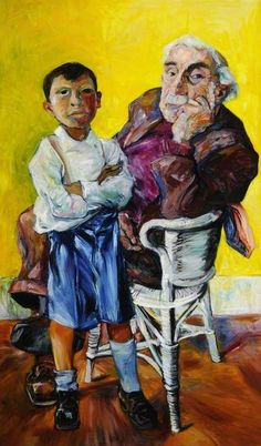 peter de francia(1921–2012), old man and a boy. oil on canvas, 152.4 x 91.6 cm. museums sheffield, uk http://www.bbc.co.uk/arts/yourpaintings/paintings/old-man-and-a-boy-72508