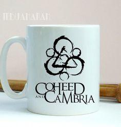Coheed Cambria Mug Font Logo, Design Mug, Size 9.5cm x 8.2cm 11oz Mug