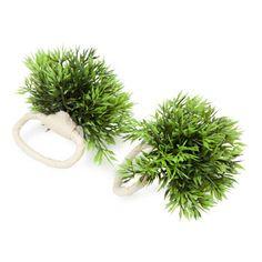 the grassy napkin rings are so much fun