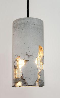 LJ LAMPS delta – Hängeleuchte aus Beton  von LJ Lamps auf DaWanda.com