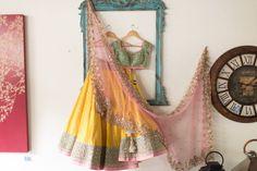 Anushree Reddy lehengas are SO perfect for Sangeets! #sangeetoutfit #lehenga #bridalfashion #indianwedding