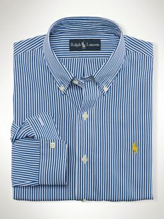 Slim Bengal-Striped Poplin - Polo Ralph Lauren Custom-Fit - Great Christmas idea; sold at RJ Pope in Vidalia, GA!