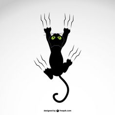 Cat grabing with claws vector design - schööön - Gatos