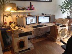 Steampunk-Schreibtisch aus Paletten, Part 2 - Palettenbett und Palettenmöbel : Palettenbett und Palettenmöbel