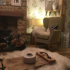 Only week to go and new suite comes . waiting for tesco 🙄 Wingback Chair, Recliner, Cosy, Brick, Waiting, Rustic, Photo And Video, Furniture, Home Decor