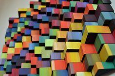 Ripples Rainbow / Original Modern Art /  3D Wall by DecoBoxRo, $250.00