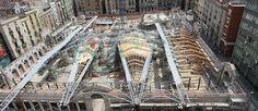 Mercado de Santa Caterina, Barcelona. (during the construction)