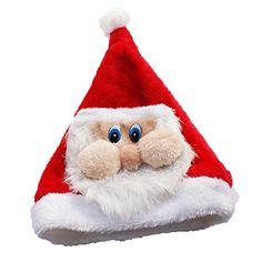 Cartoon Hairy Red Santa Claus Hat Christmas Party Accessories Cheap  Christmas c96b9922b4ea