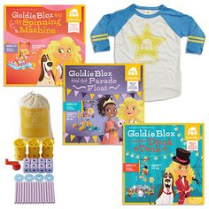 Get the Solid Gold(ie) Package complete with all three original GoldieBlox toys, Blox + Bits Expansion Pack, and Team Goldie Jersey! All your Goldie gear in the perfect package.