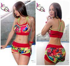 Conjunto Top-Short Ref. 509  Ropa Deportiva Claudia Quintero