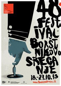 Graphic design inspiration, event illustration posters.  Maribor Theatre Festival by Nenad Cizl