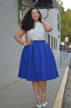 I love that midi skirts are a thing now. Finally, you don't have to worry about bending over and having your ass fall out!