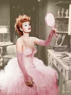 Lucille Ball in pink♡