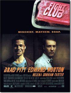 Fight Club (Türkiye Dağıtımı: Dövüş Kulübü) Yönetmen koltuğunda David Fincher, başroıllerde ise Brad Pitt, Edward Norton ve Helena-Bonham Carter yer alıyor.