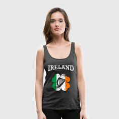 Ireland   Harp and Shamrock in grunge style