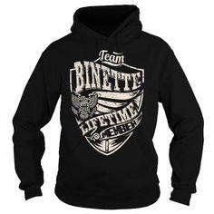 Awesome Tee Last Name, Surname Tshirts - Team BINETTE Lifetime Member Eagle T shirts