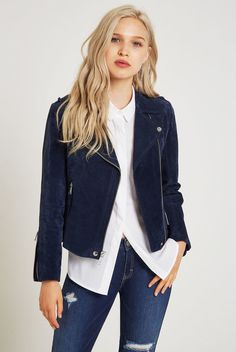 Find the latest jackets for women at BCBGeneration. Browse a variety of women's fashion jackets, inlcuding leather jackets, coats and more. Suede Moto Jacket, Blazer Jacket, Leather Jacket, Jacket Style, Bcbgeneration, Jackets For Women, Denim, My Style, Coat