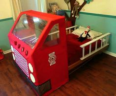 Ashbee Design: Fire Engine Toddler Bed • DIY
