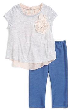 Pippa & Julie Stripe Tee & Leggings (Toddler Girls & Little Girls) available at #Nordstrom
