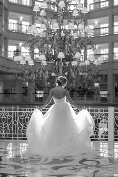 An angelic view of this bride's gorgeous dress at Disney's Grand Floridian Resort & Spa. Photo: Stephanie, Disney Fine Art Photography