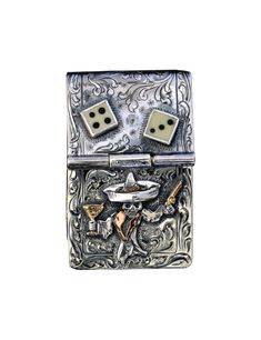 01f559947 Johnny Bones Hand Engraved Sterling Money Clip