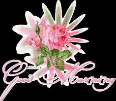 Glitter Graphics Angels   ... ://www.glitters123.com/good-morning/pink-rose-glitter-good-morning