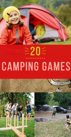 Seriously fun Camping Games for your next campout! Our list covers games for both Adults and Kids. #camping #campinggames #camp #outdoorgames