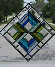 Art: HARMONY #1340 by Artist Chris Gleim Stained Glass Quilt, Stained Glass Ornaments, Stained Glass Suncatchers, Stained Glass Designs, Stained Glass Panels, Stained Glass Projects, Stained Glass Patterns, Leaded Glass, Beveled Glass