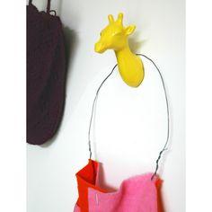 Giraffe Coat Hook - 3 Colours Available - trophy wall hook