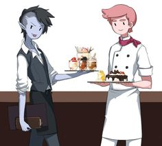 Marshall Lee and Prince Gumball. Imagine being served by these two... *swoons*