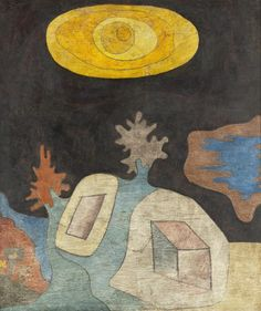 """Untitled"" 1929 Paul Klee. Oil over India ink on plywood; 17 5/16 x 15 in. (43.82 x 38.1 cm) LACMA Collections."