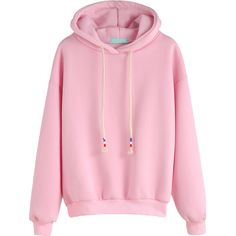 Pink Drop Shoulder Drawstring Hooded Sweatshirt (£12) ❤ liked on Polyvore featuring tops, hoodies, pink, pullover hoodie, pink hooded sweatshirt, hoodies pullover, sweatshirt hoodies and hooded sweatshirt