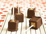 Chocolate, peanut butter cheesecake pops