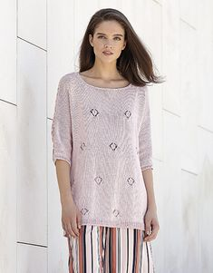 Model / Pattern of Sweater of Woman of Spring / Summer from KATIA Malva, Summer Patterns, Natural Looks, Pick One, Pulls, Cashmere, Sweaters For Women, Crochet, Spring Summer
