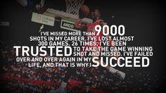 Michael Jordan succeed quote.