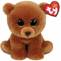 ty Beanies Babys Wildlife Brownie - Braunbär  Der herzige Pläschbär mit den grossen Augen.