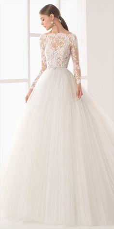 Long sleeve bridal gown • wedding inspiration