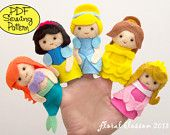 PDF Patterns Felt Ornaments Finger Puppets & por FloralBlossom
