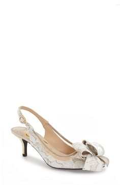 680f6f9569fe J.Reneé  Garbi  Lace Bow Pump (Women) available at  Nordstrom